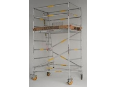 Mobile scaffold tower available from No Bolt
