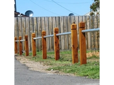 Timber and Pine Bollards by Norwood Products