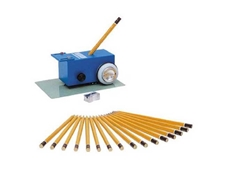 The Pencil Method uses an assortment of pencils with 17 degrees of hardness from 6 B to 9 H for the scratch hardness test