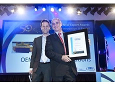 OEM CEO James McLeod with the award