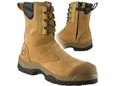 High leg zip sided work boots
