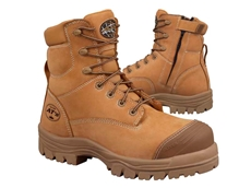Oliver Footwear's AT 45-632Z style 150mm wheat colour zip sided safety boot