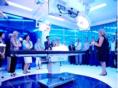 Inside one of the training theatres in the Olympus Customer Experience Centre