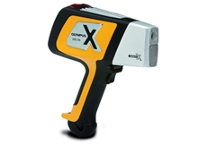 The compact, lightweight Delta Premium hand-held XRF analyser from Olympus