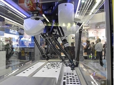 The new Delta 3 robot from Omron can move lightweight loads quickly and accurately