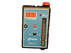 Hand held Ntron Model C-5 percentage range oxygen analysers available from On Site Gas Systems