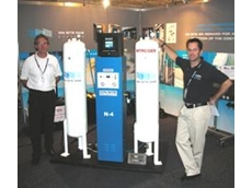 Onsite Gas Systems on display at National Manufacturing Week 2009 with Australian General Manager Rodney Rodriguez on the right