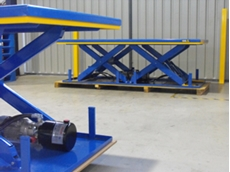 Custom built scissor lifts