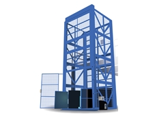 Goods hoist for food processing plant