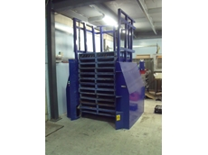 Pallet segregation with Optimum Handling Solutions double pallet dispenser