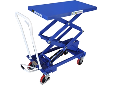OH-E Range Manual Double Scissor Lift Trolley 001