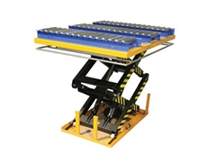 Scissor Lifts with roller conveyors now available from Optimum Handling Solutions