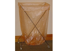 Water soluble laundry bags for healthcare and infection control