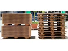 Presswood compressed wood pallets are strong and durable, and can be used on roller conveyor with or without bottom skids