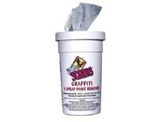 Scrubs graffiti & spray paint remover towels