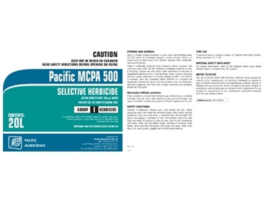 MCPA 500 Selective Herbicide for the selective control of broadleaf weeds
