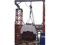 A JDN Profi air hoist was used to lift a furnace from a dedicated low loader unit within the live area of the St Fergus gas terminal