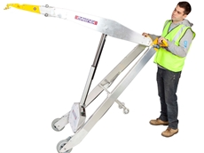 Makinex PHT-140 powered hand truck enables one-person operation