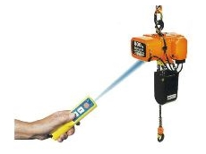The remote control is suitable for use within a 4m radius and up to 8m from the hoist.