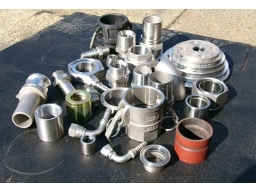 A range of fittings for hoses, pipes, couplings and flanges