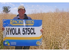 Reynolds (pictured) was impressed with last season's canola harvest and intends to plant the crop again this winter