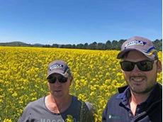 Tourello farmer Steve Kinnersly with his agronomist Brendan Smith