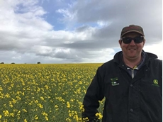Yorketown grower Richard Dodd is using the brand new canola technology on his farm.