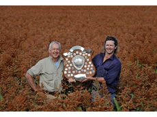 Grower Simon Tourle won the prestigious Premer Shield for high sorghum yields