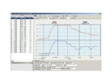 Screen image of a data logger's temperature readings.
