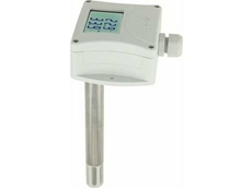 Duct mount programmable temperature and humidity transmitter with 4-20mA output