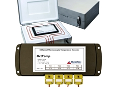 Eight channel thermocouple based oven temperature profiler from Pacific Sensor Technologies