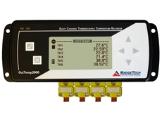 8-Channel Thermocouple Data Loggers with LCD