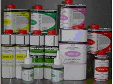 Range of plastic adhesives available from Pacific West