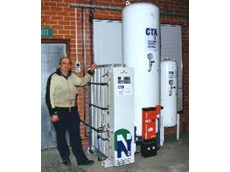 Nick van Puten with his Routomead furnace and MAXIGAS installation.