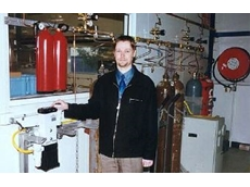 Brett Hunter with domnick hunter gas generation equipment.
