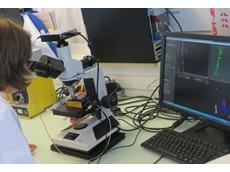 Séverine Vilain uses NanoSight's LM10 NTA system in Santen's R&D laboratory in France