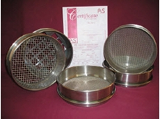Test sieves are manufactured from stainless steel woven wire mesh