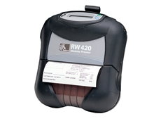 Zebra Warrior RW420 portable thermal printer available from Peacock Bros