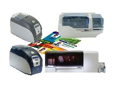 Zebra plastic colour card printer range.