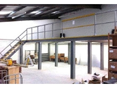 Mezzanine floor built with FRP grating, stair treads and handrails