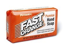 Fast Orange bar soap -- removes stubborn stains.