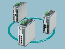 The new managed switches support the Device Level Ring (DLR) redundancy mechanism