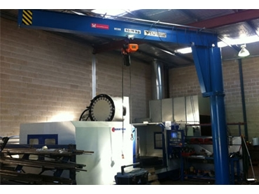 Assistant Wall Mounted Slewing Jib Cranes maximise lift in lower height applications
