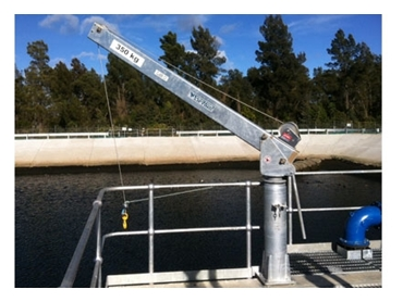 350kg Davit Crane is easy to operate with limited maintenance requirements