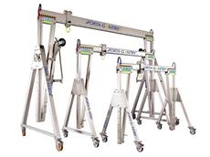 Phoenix Lifting's aluminium portable gantry cranes