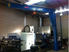 Meister column mounted slewing jib crane
