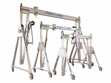 Phoenix Lifting releases portable aluminium gantry cranes