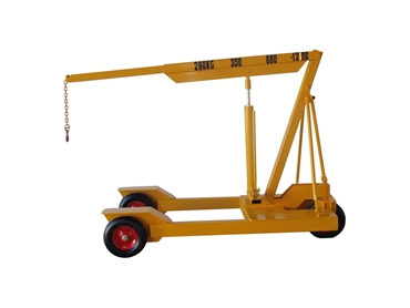1200kg Heavy Duty Mobile Floor Crane with Pneumatic Wheels