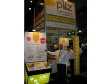 Frank Schrever with the Pilz display of safety switch products at NMW 2009