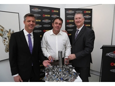 V8 Supercars CEO James Warburton, creator of the PIRTEK Enduro Cup James Corbett and PIRTEK CEO, Stephen Dutton